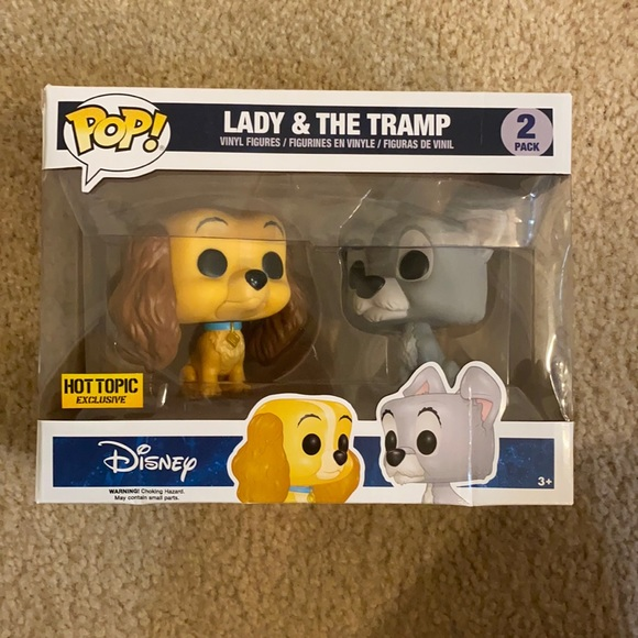 Lady and the Tramp Hot Topic Exclusive Funko Pop
